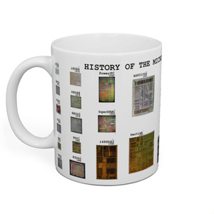 """History of Microprocessor"" マグカップ"