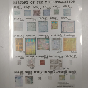"""History of Microprocessor"" クリアファイル"