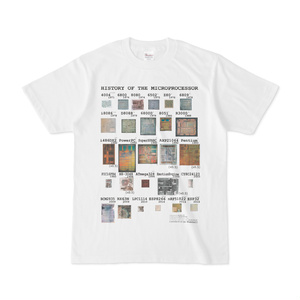 """History of Microprocessors"" Tシャツ(カラー)"