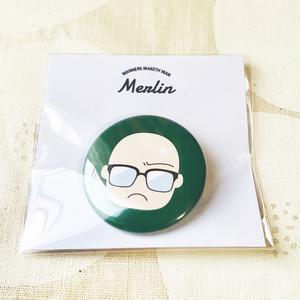 KM丸型缶バッジ/Merlin