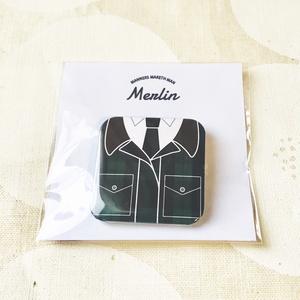KM正方形型缶バッジ/Merlin