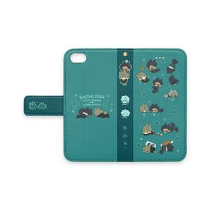 【iPhone 8】さふぁりぱーくけもけも・手帳型スマホケース