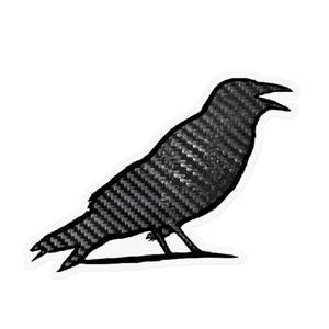 カーボン鳥のステッカー
