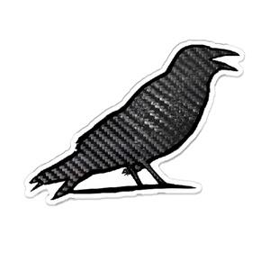 カーボン鳥のアクリルバッジ