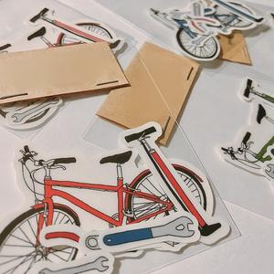 自転車セットステッカー