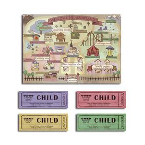 ネバーランドマップ&チケット柄メッセージカード