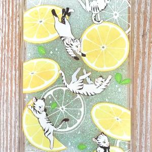 Lemon squash グリッター i phoneケース