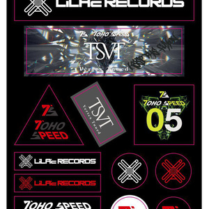 LiLA'c Records A3ステッカーシート