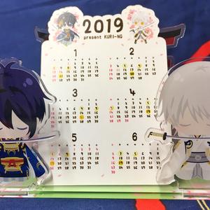 三日月と鶴丸のアクリルジオラマ カレンダー付
