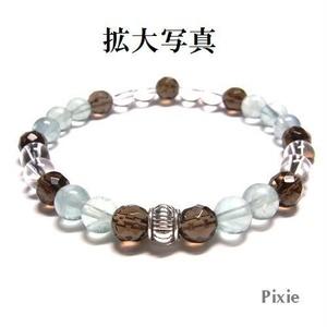 天然石 パワーストーン ブレスレット◆Pixie クールスモ―キー◆lalalady-56