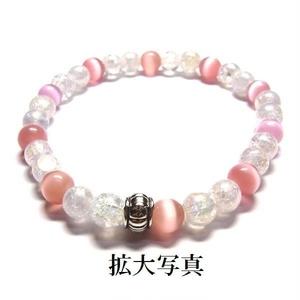 天然石 パワーストーン ブレスレット◆Pixie シャングリラピンク◆lalalady-55