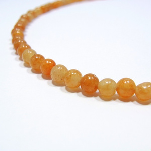 天然石 パワーストーン◆健康運◆ハートネックレス オレンジクォーツァイト◆lalalady-105