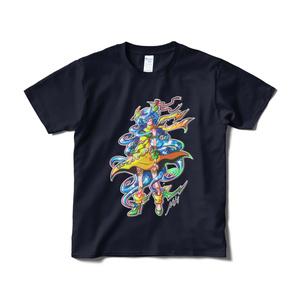 「イカヅチノカミ」Tシャツ(ネイビー・フロントプリント)