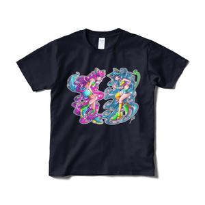 「Vivi&Carina」Tシャツ(ネイビー・フロントプリント)