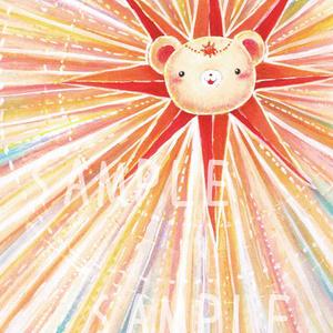 くまみ太陽神 ポストカード