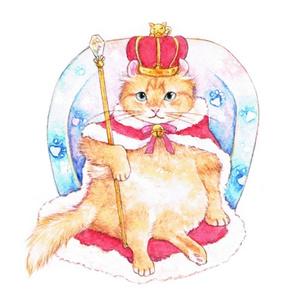 猫キングポストカード
