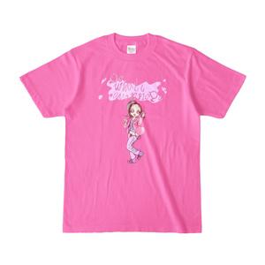 創作女の子Tシャツ ヒップホップ少女ピンキー