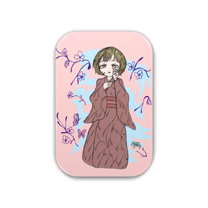 創作キャラ蝶子 缶バッジ