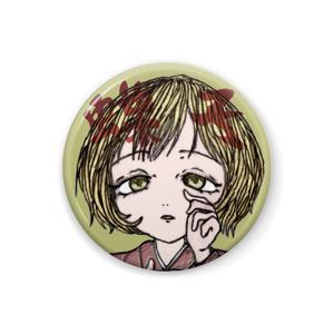 創作キャラ蝶子 丸缶バッジ