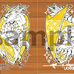 アクリルキーホルダー(ゴールデンドラゴン1)