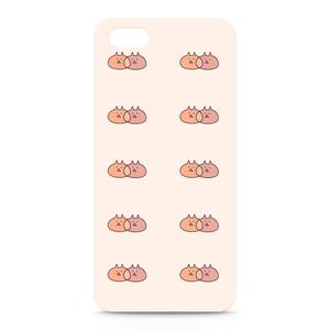 ねこねこiPhoneケース(ピンク)