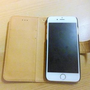 くまさんねこさん三時のおやつ*手帳型iphoneケース