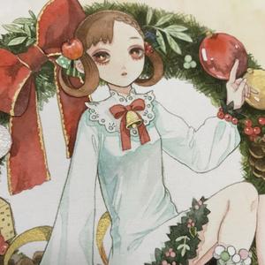 原画「クリスマスリースちゃん」