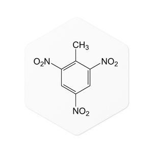【構造式ステッカー】TNT(2,4,6-トリニトロトルエン)