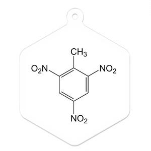 【構造式アクリルキーホルダー】TNT(2,4,6-トリニトロトルエン)