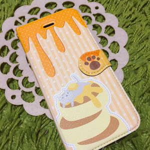 【iPhone6用】ホットケーキの手帳型iPhoneケース