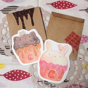 カップケーキのメッセージカード
