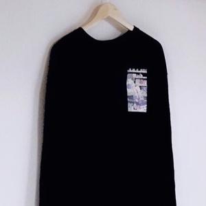 「カルシウム」ワンポイントビッグサイズ長袖
