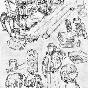 ラクガキ原画4ページ