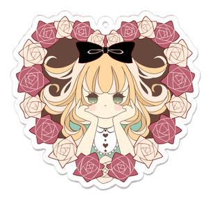 薔薇とアリスのアクリルキーホルダー