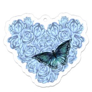 薔薇と蝶々のキーホルダー