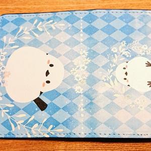 名刺ケース(南極星座ドーム、雪ペンギン、仲良し文鳥、シマエナガ)