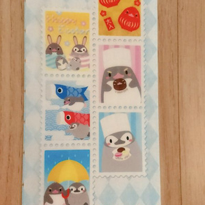 ペンギン切手柄 チケットファイル
