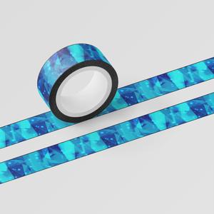 クリスタル風マスキングテープ(縁あり・なし)