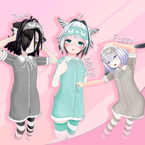 Just Pajamas!!  パジャマワンピースとニーソックス