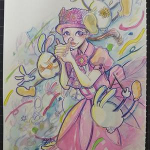 【ディズニー】ウェルカムフラワーバンド-ガーベラちゃん原画