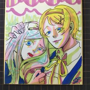 【ヘタリア】雪肌姉妹色紙原画