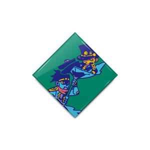 【ジョジョの奇妙な冒険】承太郎缶バッジ(ひし形)