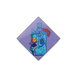 【ジョジョの奇妙な冒険】ポルナレフ缶バッジ(ひし形)