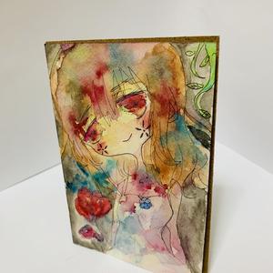 イラスト原画 赤目の少女