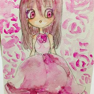 イラスト原画 rose