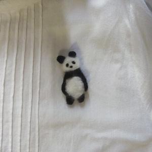 パンダ(A)羊毛ブローチ