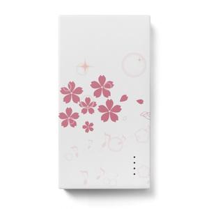 桜色モバイルバッテリー
