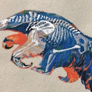 オオアリクイのホネ刺繍サコッシュ