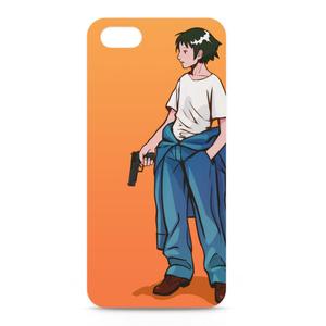 銃と女の子iPhoneケース