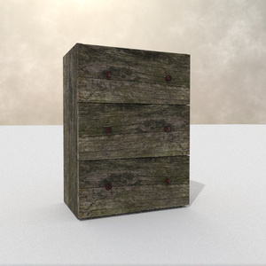 3Dモデル「苔木のチェスト」